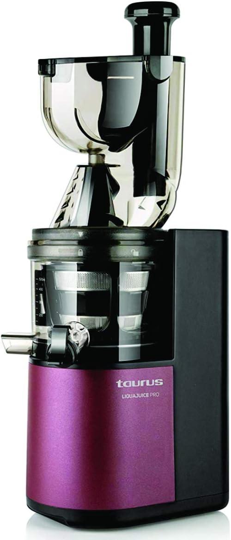 Taurus Liquajuice Pro-Licuadora extraccion en Frio (200 W, 43 RPM, Sistema antigoteo), Color Rosa