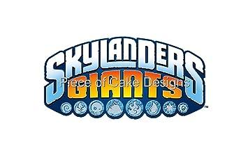 2 round skylanders giants logo edible image cake cupcake topper