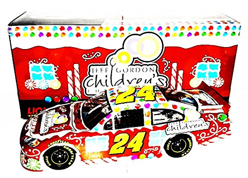 (AUTOGRAPHED 2012 Jeff Gordon #24 Children's Foundation CHRISTMAS CAR (Sam Bass Design) Signed Lionel 1/24 NASCAR Holiday Diecast with COA (#195 of only 888 produced!))