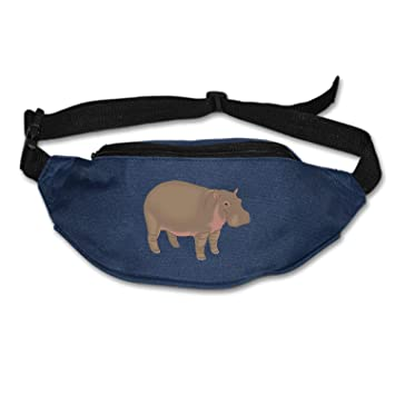 Cute Running Cow Jumping Sport Waist Packs Fanny Pack Adjustable For Travel