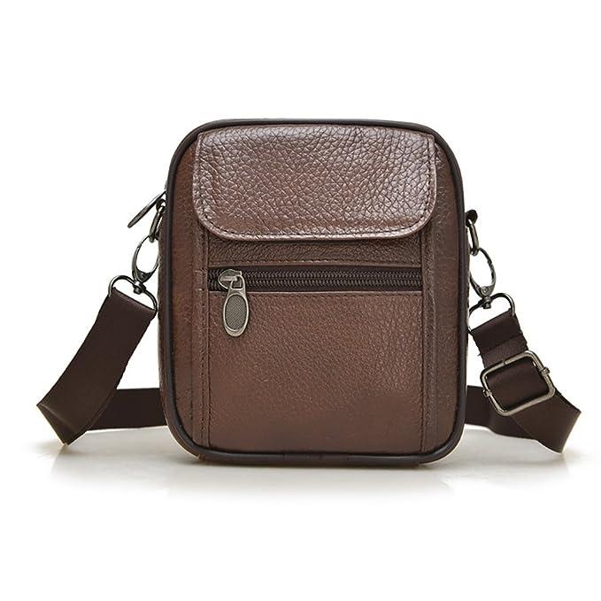 760d233936b1a Men`s Genuine Goat Leather Belt Bag Travel Crossbody Bag Waist Bag Wallet  Purse