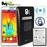 MugenPower Samsung Galaxy Note 3 Double Juice Android Pay NFC & Wireless charging Safety 6500mAh Extended battery Support NOTE 3, N9000, N9005, N900V, N900T, N900A, N900P] - BLACK
