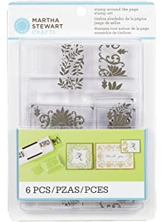 Martha Stewart Crafts Stamp Around The Page Flourishes And Leaves Set