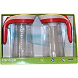 Contigo AUTOSEAL Pitcher Set with Infuser Stick and Ice Core 2 Pack (Pink/Red)