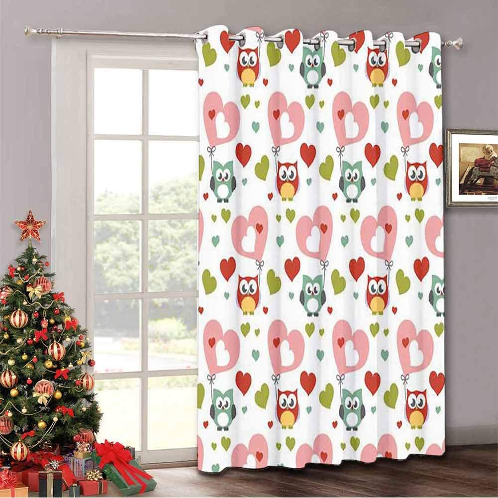 Aishare Store Thermal Insulated Drapes for Patio Door Happy Fathers Day Greeting Card Illustration,Sliding Door Drapes with Grommet Top(Single Panel 52 Wide by 84 Length Inch