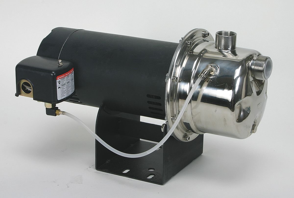 Dayton 4HEY8 Shallow Well Jet Pump, SS, 1/3 HP