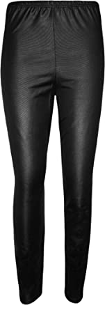 WearAll Women's Plus Size Wet Look Leggings at Amazon Women's ...