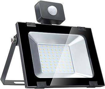 50w Foco led exterior con Sensor Movimiento ,Led Proyector para ...