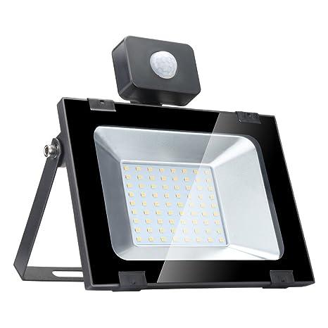 50w Foco led exterior con Sensor Movimiento ,Led Proyector para Exterior Iluminación Decoración alto brillo