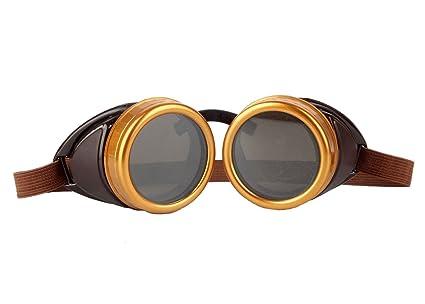 Gafas de soldador afut gafas tintadas Rave ojos gótico Steampunk Cyber Punk bronce marcos, Browrn