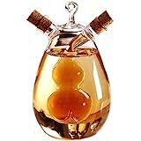 ELETON Kitchen Supplies Cruets Medium Capacity Glass Condiment Bottle ,Sauce Pot Vinegar Oil Glass Jar, Nordic Style Glass Leak Oil Bottle