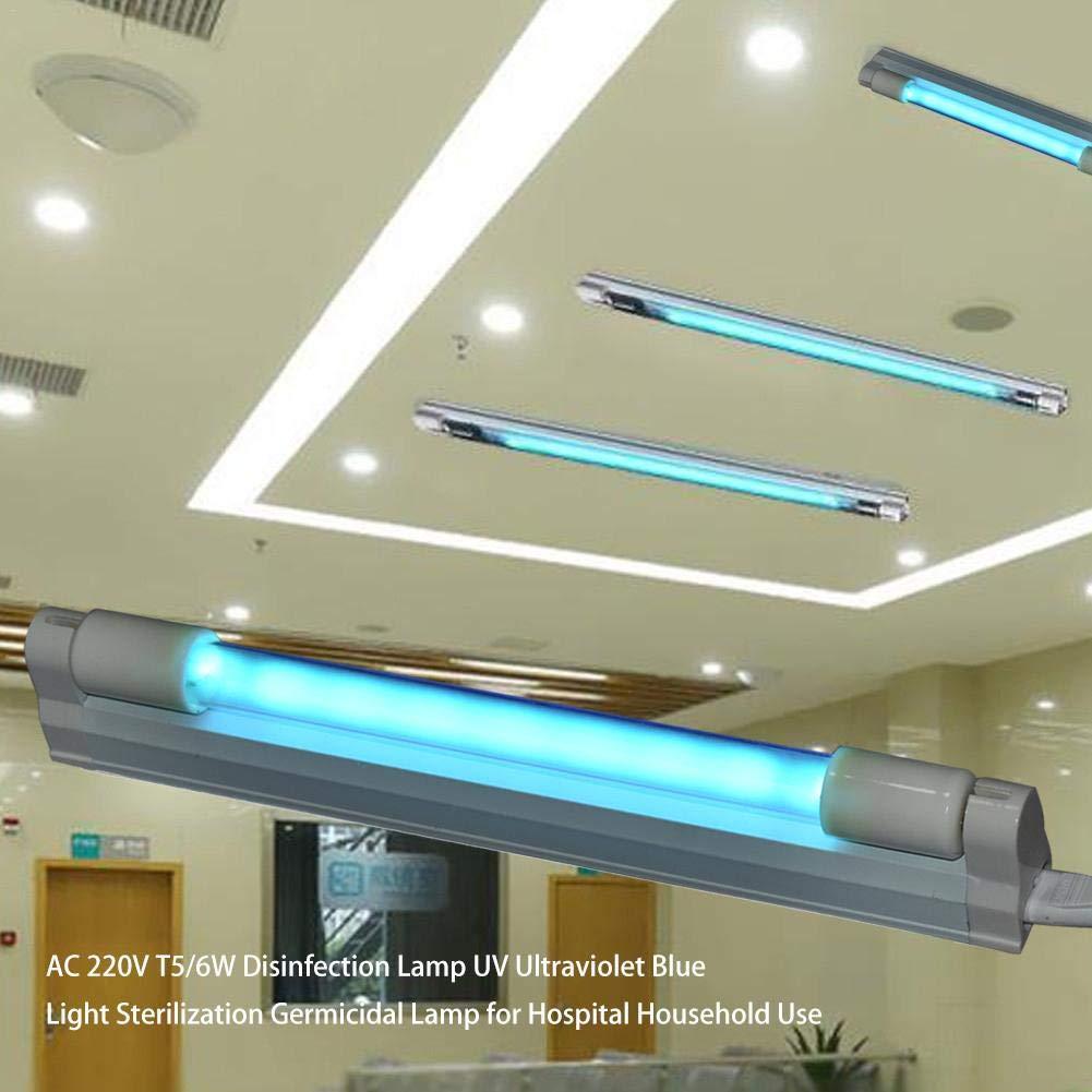 Luz P/úrpura Wovemster L/ámpara De Desinfecci/ón 220V-240V 8W Iluminaci/ón Interior Tubo De Cuarzo con Cabeza De Cer/ámica L/ámpara Germicida UV