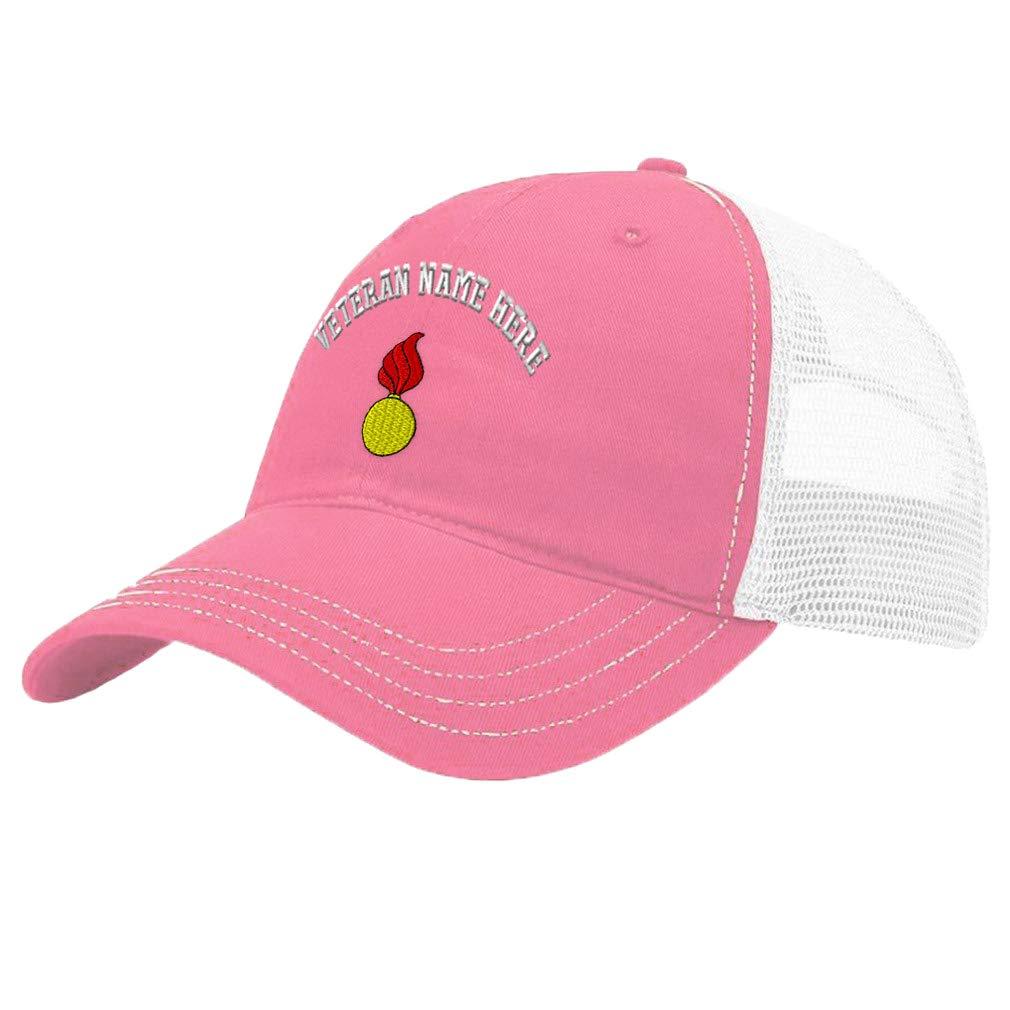 Custom Trucker Hat Richardson Ordinance Corps Veteran Name Cotton Soft Mesh Cap
