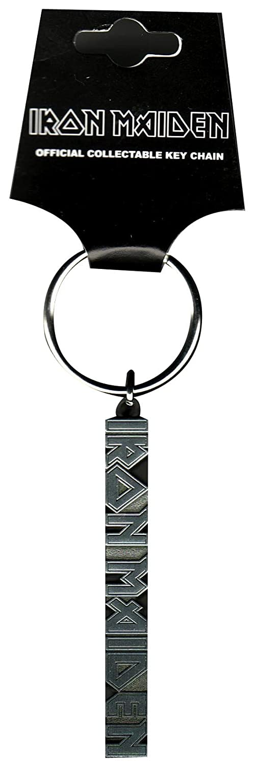 Iron Maiden Silver band Logo new Official metal Keyring Key Chain Officially Liscenced Product