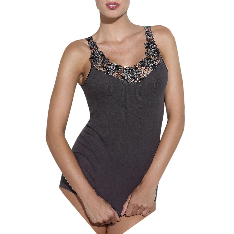 Ott-tricot Damen Unterhemd Achselhemd mit Spitze 100% gekämmte BW in 9 Größen 38 - 54