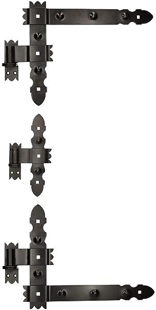 KOTARBAU Kreuzgeh/änge 300 mm Ladenband Scharnier Band Platte Baubeschlag Torbeschlag Holzverbindung Werfgeh/änge T-Band T-Scharnier Pulverbeschichtet