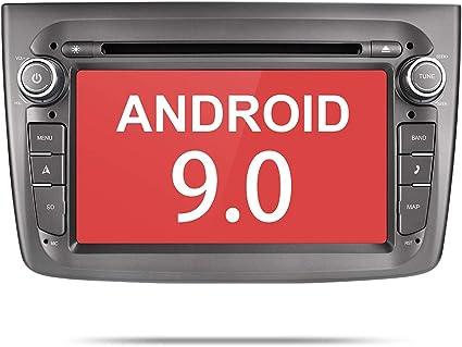 Aumume Android 9.0 Autoradio Radio per Alfa Romeo Mito con Navigatore Supporta Mirrorlink Bluetooth DAB+ con scheda da 8 GB