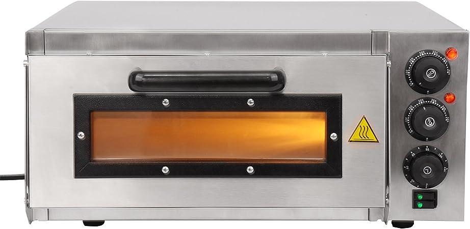Horno, Horno de la Pizza 1200W en acero inoxidable: Amazon.es: Hogar