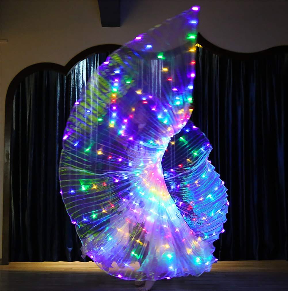 Transparente Vistoso Alas LED Traje Brillante Danza del ...