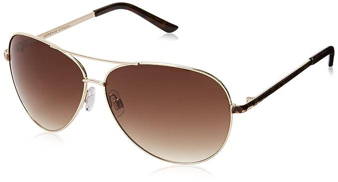 39016a81c5 Adrienne Vittadini Women s AV3002 AViator Sunglasses