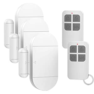 Door Window Alarm for Home Pool Kids Safety with 2 Remote Controls Door Entry Burglar Magnetic Sensor Security Alert Kit for Store Garage 130dB 4 Alarm Modes