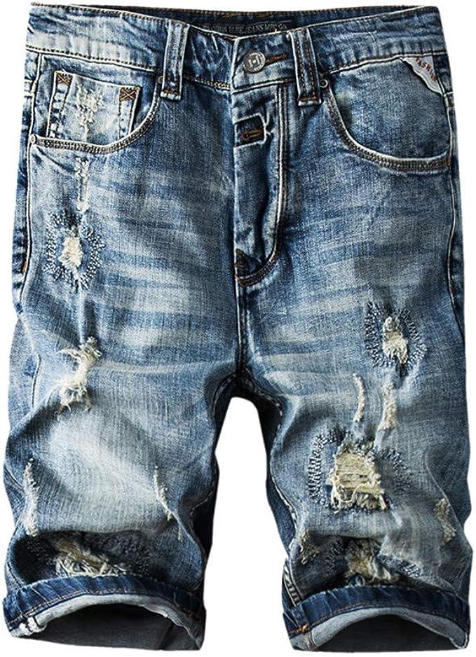 Tymhgt Mens Vintage Casual Ripped Broken Hole Jeans Denim Pants