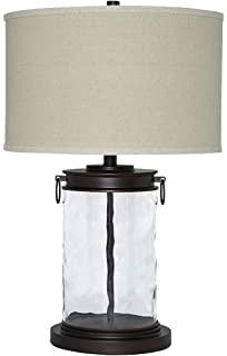 Croyton 22 high clear blown glass table lamp amazon signature design by ashley l430324 tailynn farmhouse glass table lamp clear and bronze finish mozeypictures Gallery