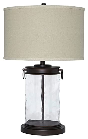 Signature Design by Ashley L430324 Tailynn Table Lamp, Clear/Bronze Finish