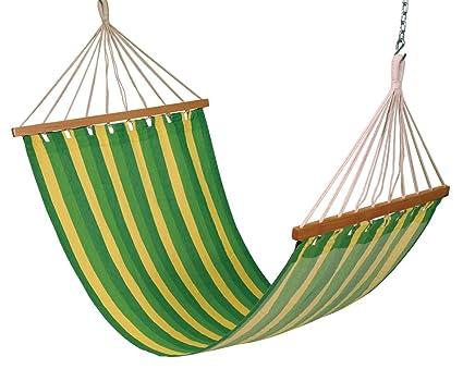 Hangit Cotton Hammock (Green Leaf, 335 Centimeters)