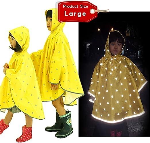 Clobeau Kids Rain Poncho Rain Coat Toddler Rainwear Rain Jacket Raincoat for Girls Boys