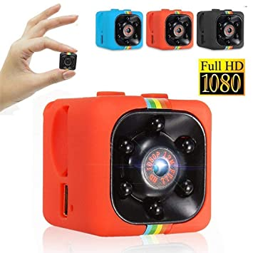 Alokie Camara Espia Mini HD 1080, Coche HD Mini Cámara de Grabación de Video Tarjeta