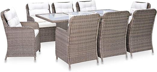 Polyrattan Gartenmöbel Set Sitzgruppe Rattan Gartenset Essgruppe Stuhl Tisch Set