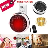 Nifogo Heater Mini Calentador Ceramico de Pared - Estufa Electrica con Control Remoto, 900W Termoventilador