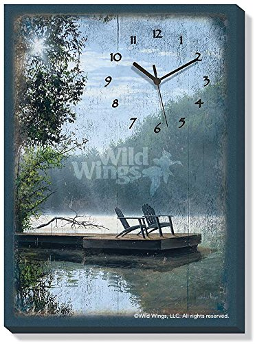 A Place To Ponder Canvas Clock by Anthony Padgett