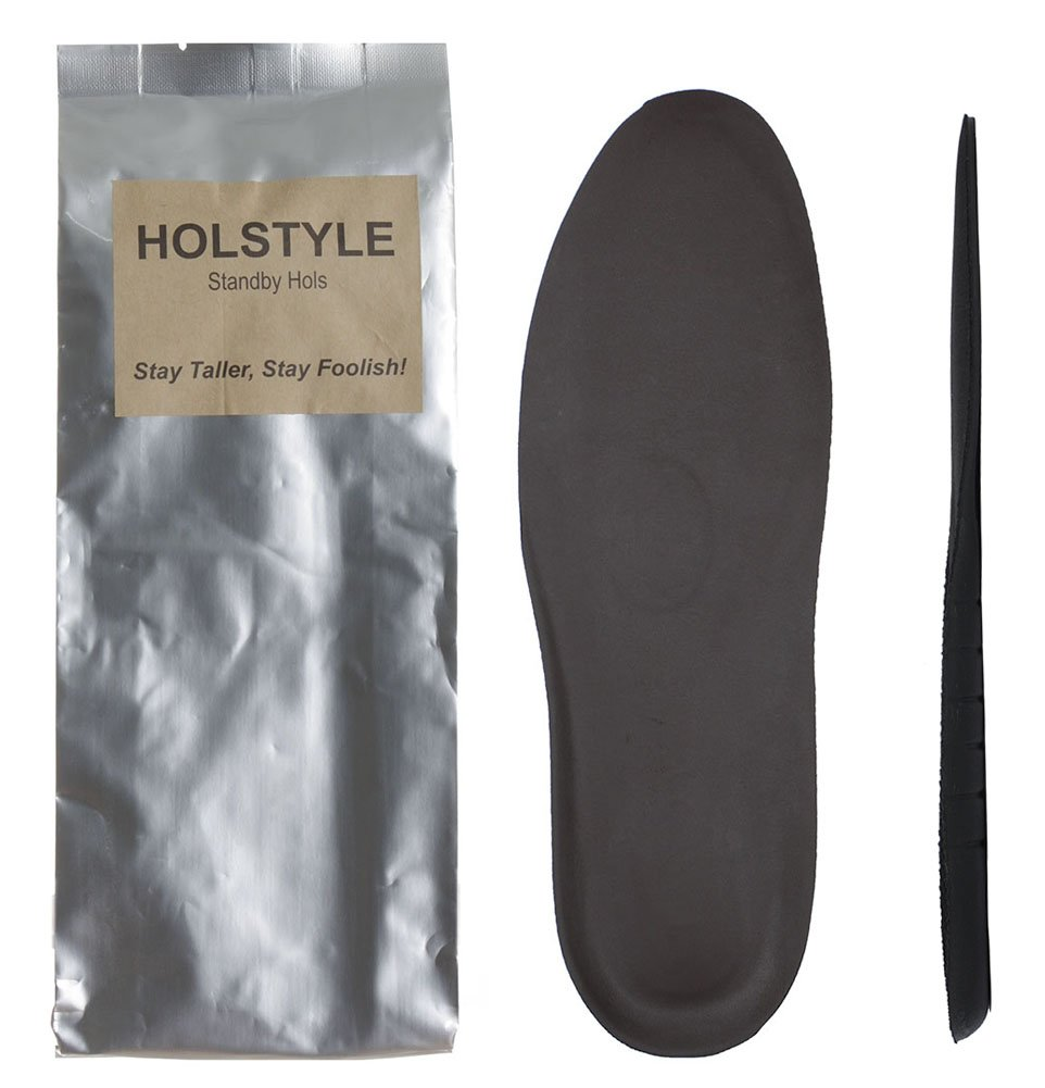 Holstyle 1/4''(0.6cm) Taller Heel Lift Full Insoles for Loafer, Sneakers, Dress Shoes for Men Shoe Inserts, Cushion Inner Sole with Synthetic Leather brown