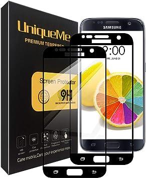 UniqueMe [2 Pack] Protector de Pantalla para Samsung Galaxy S7 ...