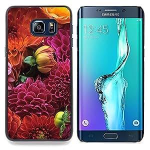 Stuss Case / Funda Carcasa protectora - Diseño floral púrpura de Orange - Samsung Galaxy S6 Edge Plus / S6 Edge+ G928