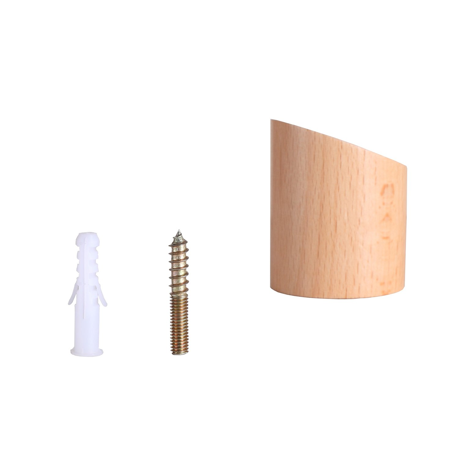 Natural Wooden Wall Hook Decorative Wall Mounted Hat Hanger Minimalist Design and Stylish Coat Hooks Hand-made Towel and Robe Hook (Primary ColorPack of ...