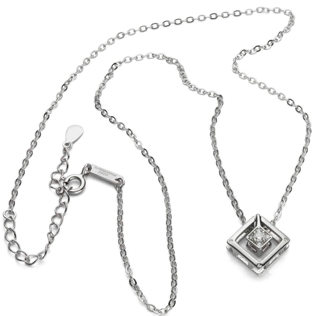 80 cm L/änge 925 Sterling Silber Poliertuch f/ür Silber Schmuck brilliantme Damen Halskette Inkl Anh/änger