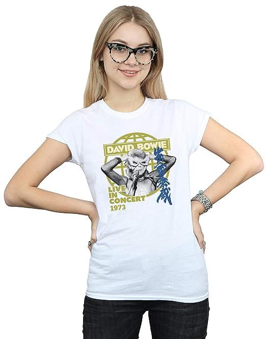 Mujer Live In Accesorios Y David Concert CamisetaAmazon Bowie esRopa 8OkXNPZn0w
