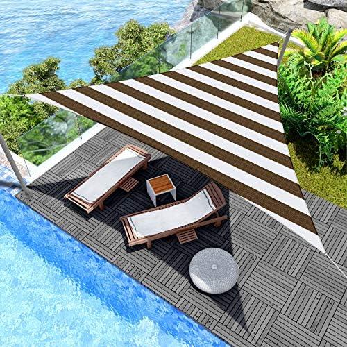 Windscreen4less 28' x 28' x 28' Triangle Sun Shade Sail