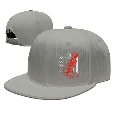 8a40bbc1ead8a2 Unisex Snapback Hats,Bass Fishing Lure and American Flag Adjustable Hip Hop  Flat Brim Baseball