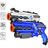 Infrared Laser Tag - Laser Gun Set Boys Toy Birthday Gift 2-Pack Infrared Battle Shooting Games Lazer Tag Blasters Indoor & Outdoor Group Activity Two Player Gaming Set Laser Tag Blasters