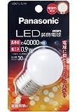 パナソニック LED電球 密閉形器具対応 E26口金 電球色相当(0.9W) 装飾電球・G型タイプ LDG1LGW