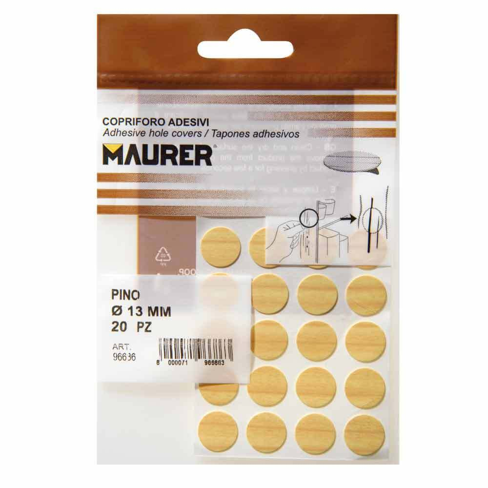Maurer 5440106 Pack de 20 tapatornillos Adhesivos, Color Pino