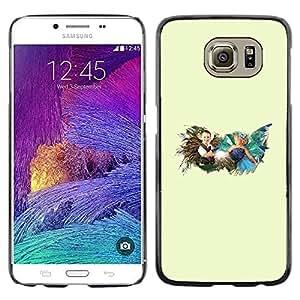 EJOY---Cubierta de la caja de protección la piel dura para el / Samsung Galaxy S6 / --Tiempo de la niñez
