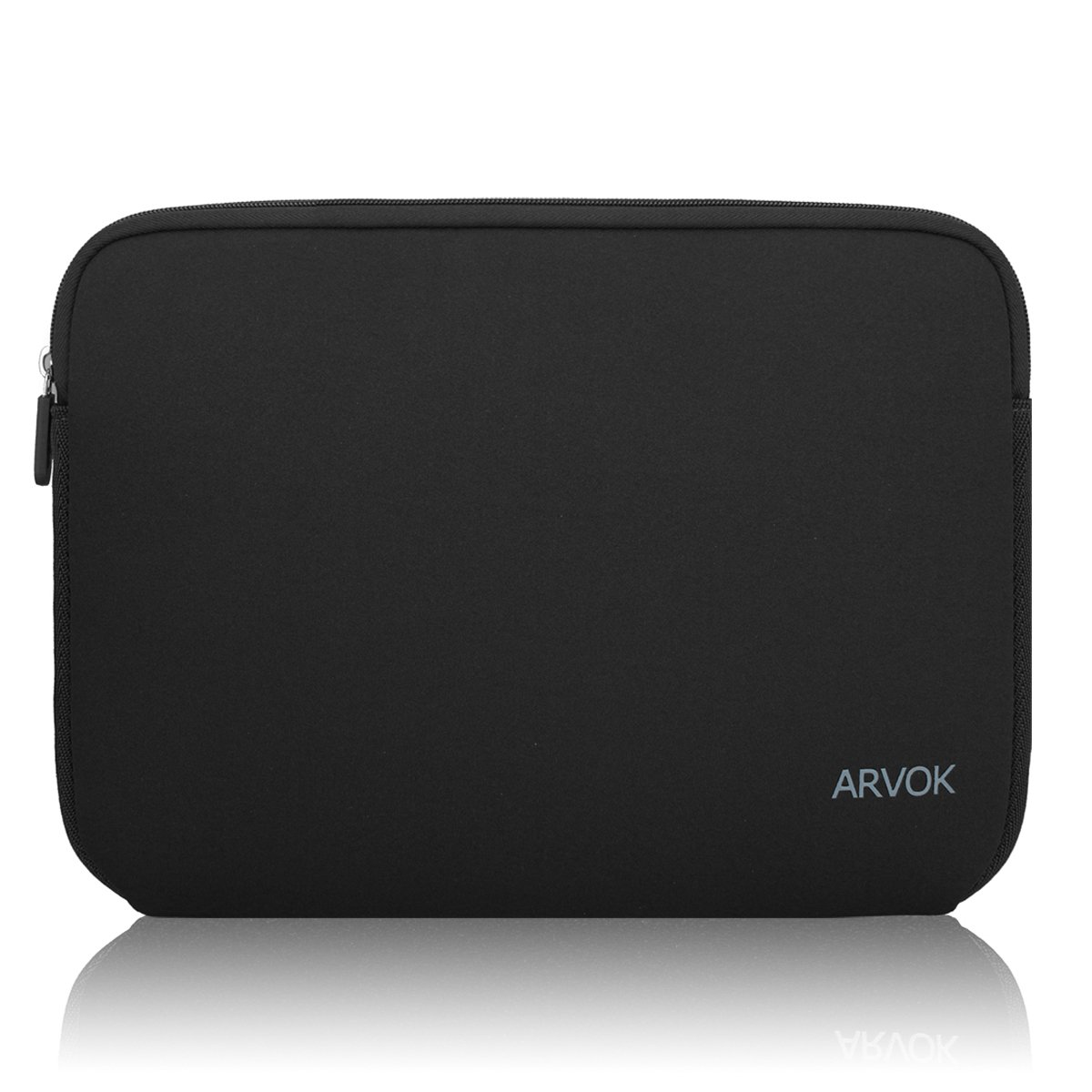 Arvok 11-12 Inch Laptop Sleeve Multi-color & Size Choices Case/Water-resistant Neoprene Notebook Computer Pocket Tablet Briefcase Carrying Bag/Pouch Skin Cover For Acer/Asus/Dell/Lenovo, Black by ARVOK
