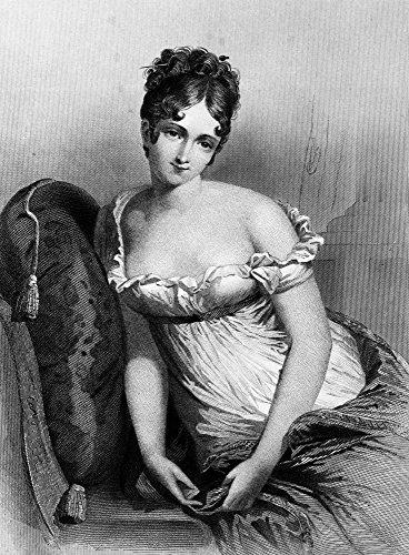 Spalle La Le Récamier Mostra Bella Nude Indossa Più Che Donna Stampa 1800 Facendo Che Dell'impero D'europa Abito Di Un Madame Vita EawqWf