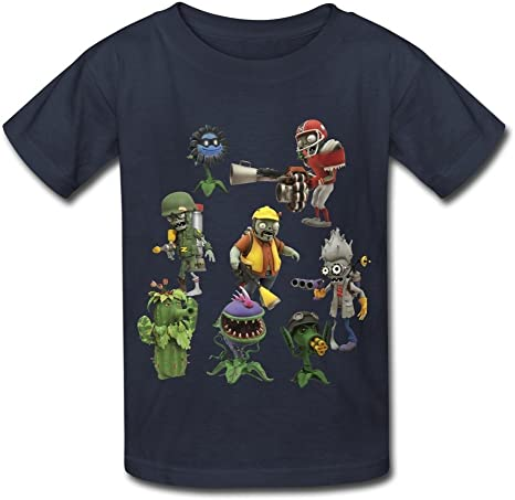 Kazzar Kids Plants Vs Zombies Garden Warfare Round Collar T Shirt