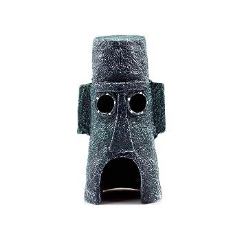 HongYH Adorno para acuario, esponja Bob, decoración para pecera, casa de piña,